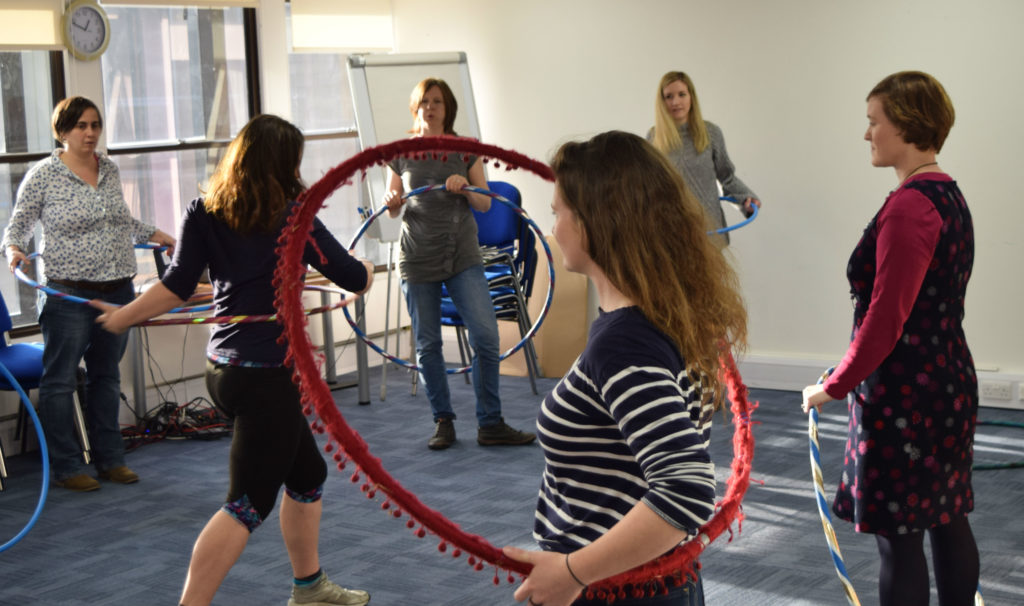 Wasting Time or Improving Minds? Yoga and Circus at work.